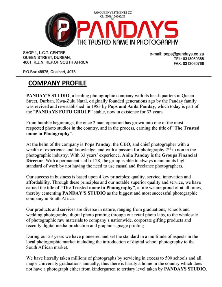Trading Company Introduction Letter Word